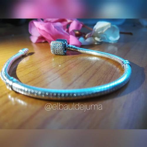pulsera estilo pandora brazalete plata 925