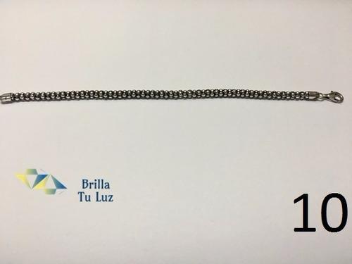 pulsera granada enegrecida - joyas de plata 925