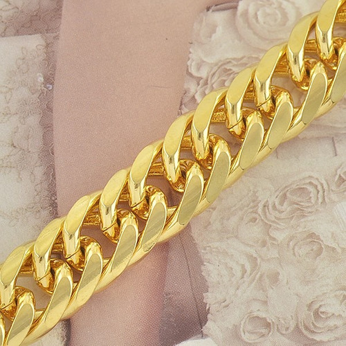 pulsera gruesa - oro laminado 11mm