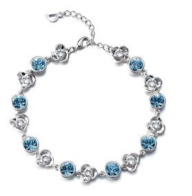 13bb71a18d79 Pulsera Hecha Con Cristales Swarovski Celeste-joyas Mujer