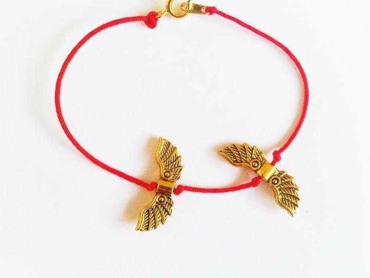 pulsera hilo rojo alas de angel.