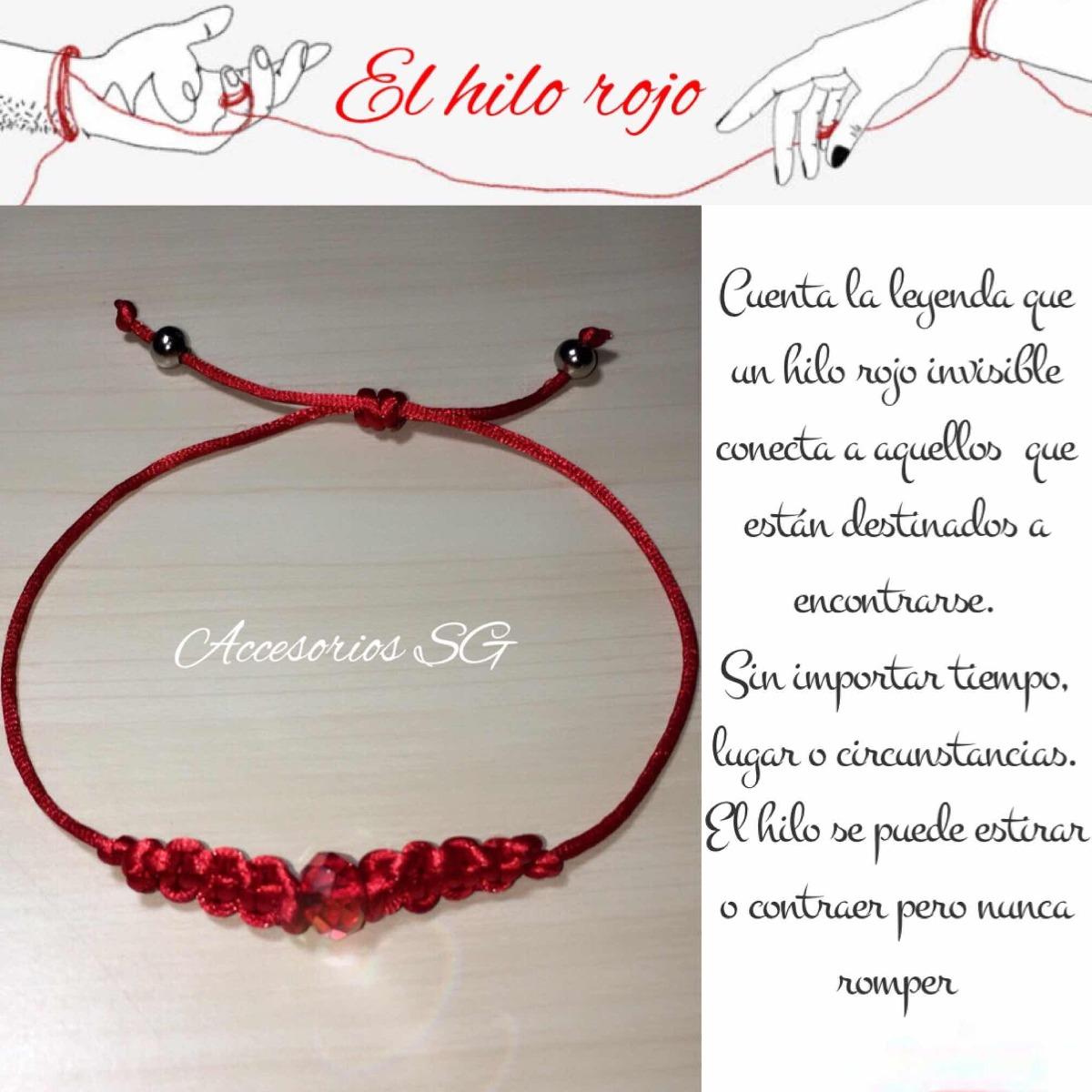 Pulsera Hilo Rojo Del Destino Amor Protección Vida Corazon