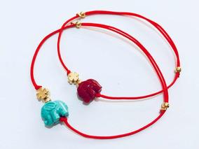 b0ae6a05040e Pulsera Hilo Rojo Elefante Azul Y Trébol C/una Mayoreo