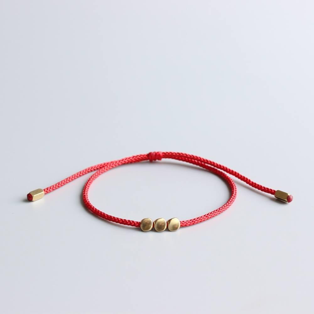 d9a1e48f7e09 Pulsera Hilo Rojo Tibetana Nudos De Protección. Nylon.