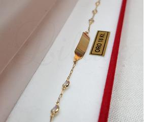 51a67b9a3dc2 Pulsera Identidad Bebe Oro - Joyas y Relojes en Mercado Libre Argentina
