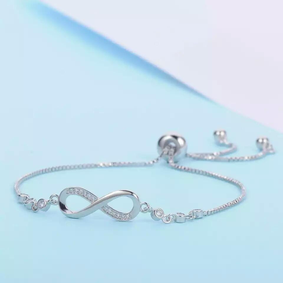 ec3775621afe pulsera infinito ajustable mujer de plata 925! anillo no 950. Cargando zoom.