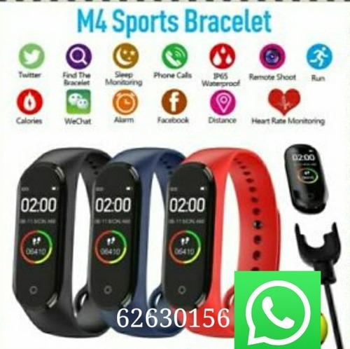 pulsera inteligente m4 rojo, azul y negro