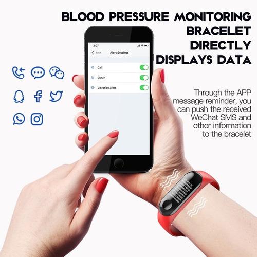 pulsera inteligente monitor fitness ip68+ banda extra gratis