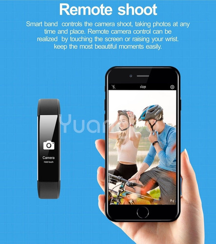 pulsera inteligente podómetro monitor de sueño smart watch