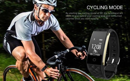 pulsera inteligente s2 ritmo cardiaco, waterproof,
