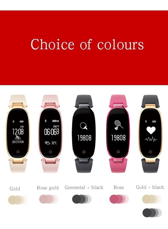 3b27578f3dd6 Pulsera Inteligente S3 Smart Wristband Bluetooth Fitness