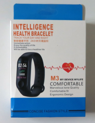pulsera inteligente smart band reloj m3 multi deporte ip67