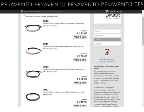 pulsera italiana pesavento colección stardust 925