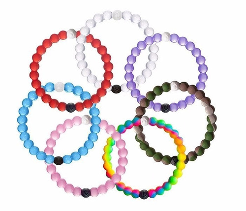 pulsera lokai brazalete silicon, colores y tallas a elegir