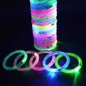45eacdd430b0 Pulsera Luz Led 10 Piezas Acrílico Fiesta Batucada Glow