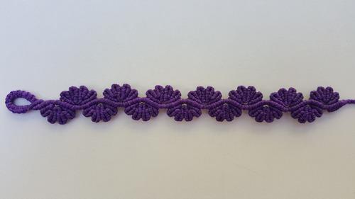 pulsera macramé de 3 hilos encerados de 1 color a elección