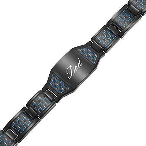 pulsera magnetica de titanio de papa con fibra de carbono