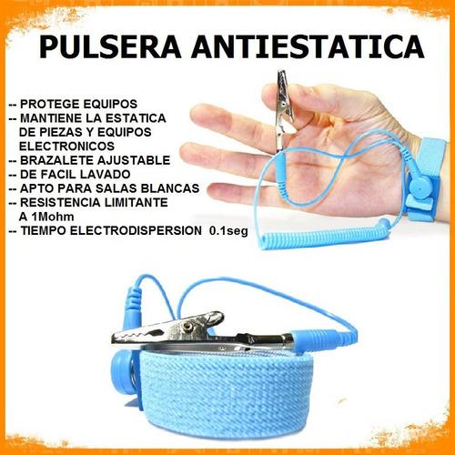 pulsera manilla antiestatica, servicio tecnico, electronica