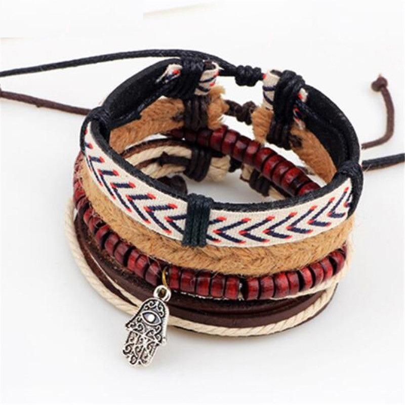fd2e16d34883 pulsera manilla brazalete cuero mano de fatima hombre mujer. Cargando zoom.