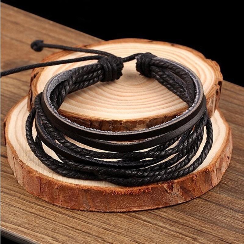 200327fc114c pulsera manilla brazalete trenzada tejida cuero hombre mujer. Cargando zoom.