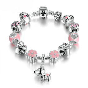 090f76adb7e8 Pulsera Manilla Love Para Mujer Tipo Pandora Charm Perro