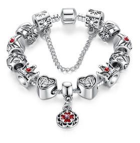a559f5bff86c Pulsera Manilla Para Mujer Tipo Pandora Charm Corazon Queen