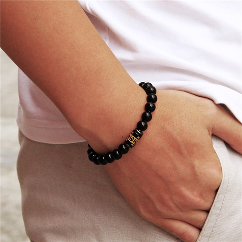 pulsera manilla piedras naturales mantra 6 mm hombre mujer