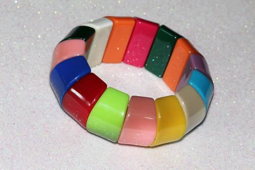 pulsera moda cuentas multicolor bisuteria dama pc479