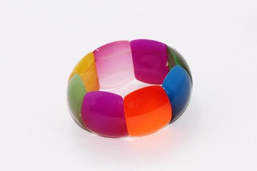 pulsera moda cuentas ovaladas colores bisuteria dama pc309