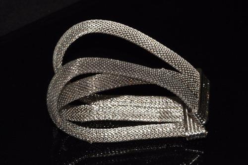 pulsera moda dorado acero plateado triple bisuteria  pc354