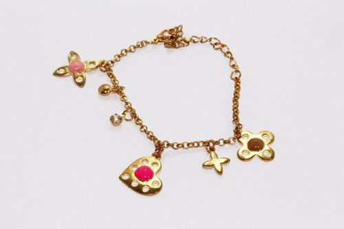pulsera moda dorado figuras bisuteria dama fiesta pc294