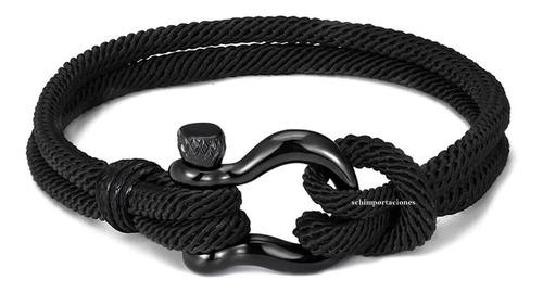 pulsera moda militar naval paracaidista - acero - deportiva