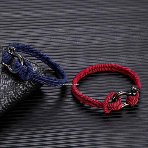 pulsera moda militar naval paracaidista* acero* deportiva m3
