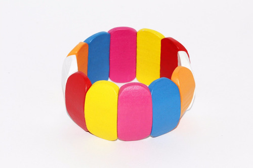 pulsera moda rectangular colores bisuteria dama pc308