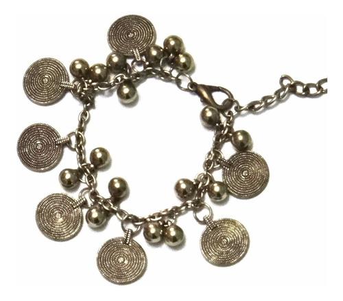 pulsera monedas moda dijes fashion nuevo actual moderno