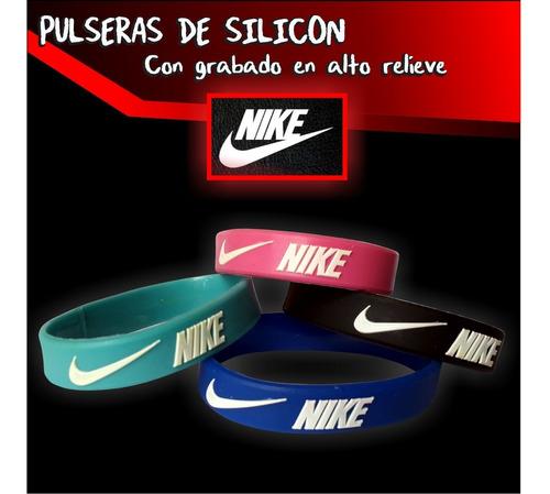 pulsera nike adidas reebok brazaletes llaveros silicon pack5