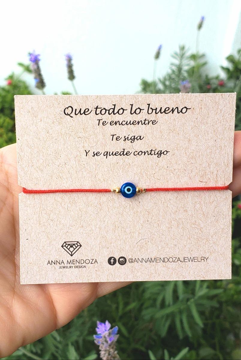 aa8cddd78ecf Pulsera Ojo Turco Hilo Rojo -   45.00 en Mercado Libre