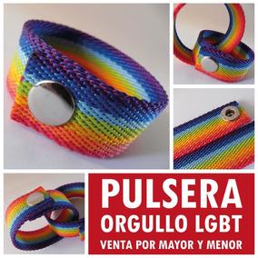 1e6fbce75801 Pulseras Del Orgullo De Tela O Gamuza - Joyas y Bijouterie en ...