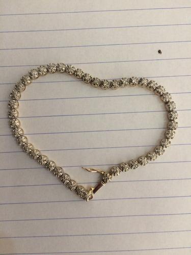 pulsera oro 14k y 45 diamantes