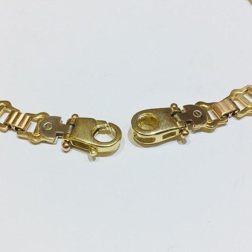 pulsera oro 18k 19cm 10,5 gramos mujer garantía puor033