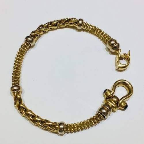 pulsera oro 18k 19cm 17 gramos zafiro azul mujer garantía