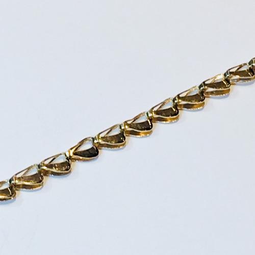 pulsera oro 18k 19cm 2.4 gramos mujer garantía envío gratis