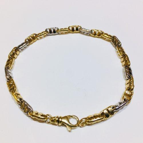 pulsera oro 18k 21cm 8,4 gramos hombre garantía envío gratis