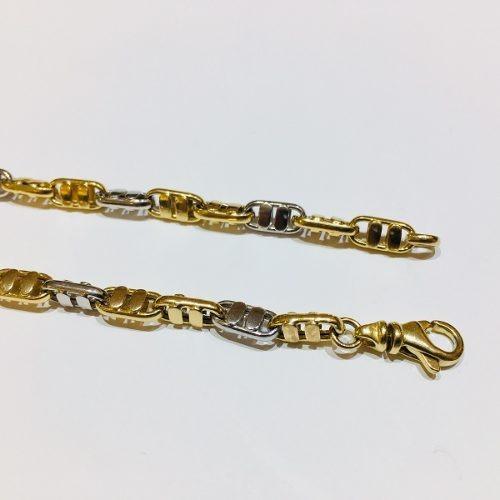 pulsera oro 18k 21cm 8,4 gramos hombre garantía puor087