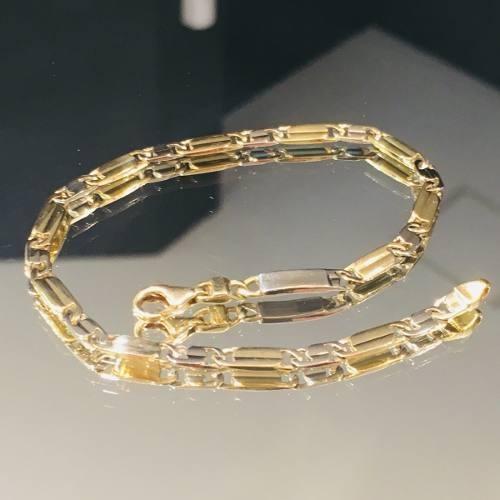 pulsera oro 18k 22cm 10 gramos hombre garantía puor044