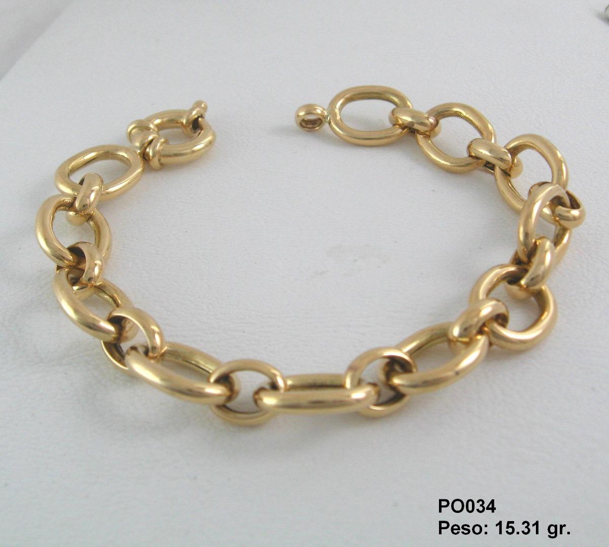 5f8ef7a09681 pulsera oro ley 18k - esclava hombre - modelos variados. Cargando zoom.