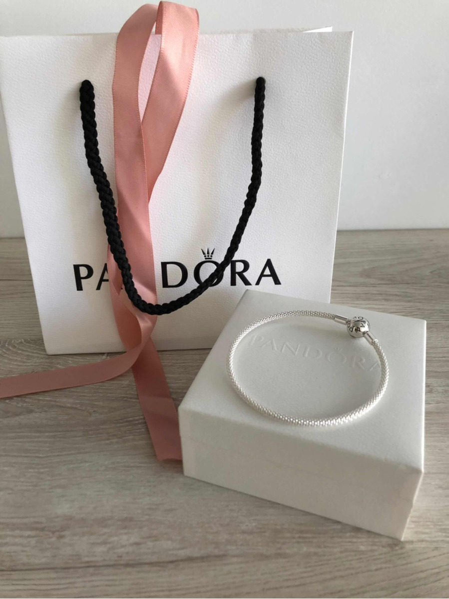 8a75b5631705 Pulsera Pandora Original Malla Metálica De Plata Esterlina
