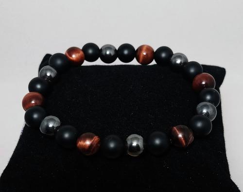 pulsera para hombre o mujer de piedras semipreciosas y chakr