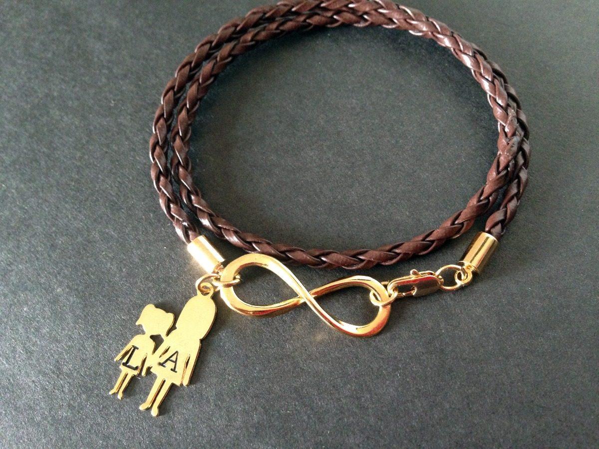 ed8a93d5aa88 pulsera para mamá personalizada goldfield y cuero  somosgalu. Cargando zoom.