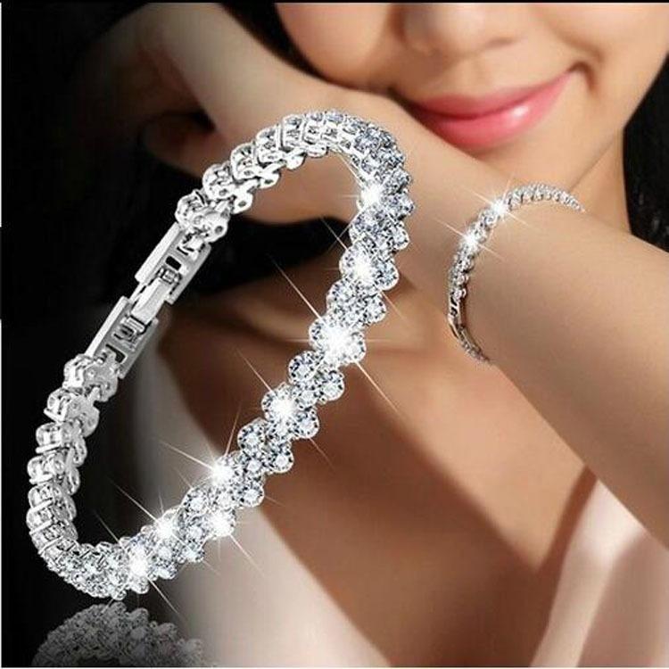 2633c0e792df Pulsera Para Mujer Brazalete Con Cristales Y Diamantes -   299.00 en ...